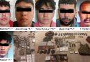 Caen 6 con armas, cartuchos, narcóticos y equipo táctico