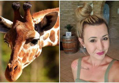 Mujer presume fotos con el cuerpo de una jirafa, asegura que la cacería salva a especies en peligro de extinción