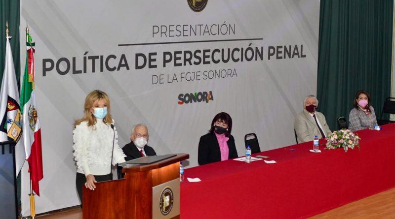 La FGJE de Sonora cuenta con una política de persecución penal que incluye la opinión ciudadana