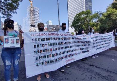 Marchan madres y familiares de personas desaparecidas en la CDMX