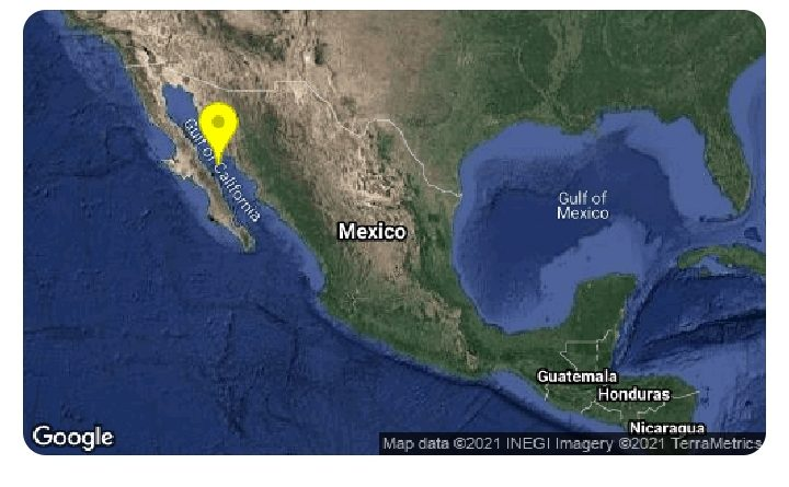 Sismo sacude Guaymas y Empalme